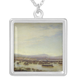 The Russian Army crossing the Danube Silver Plated Necklace