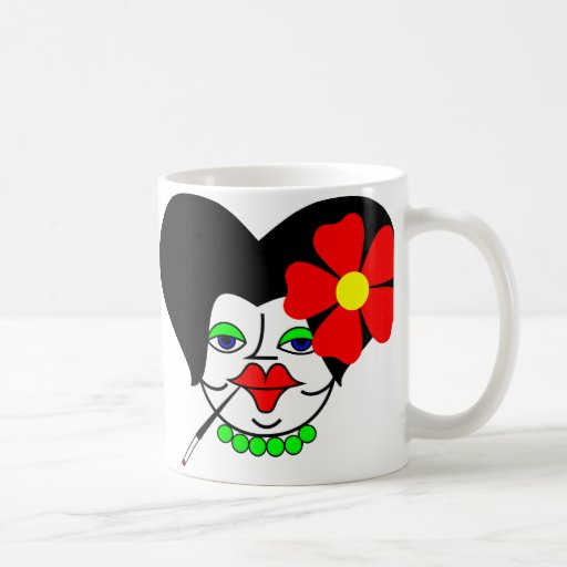 The Russian Big Fat Woman Dolls Classic White Coffee Mug
