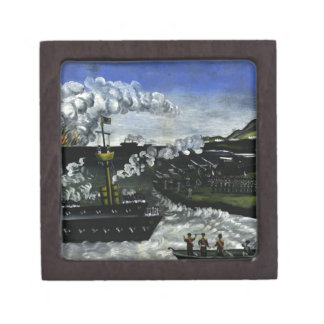 The Russian-Japanese War by Niko Pirosmani Keepsake Box