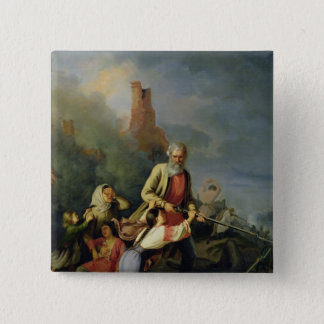 The Russians in 1812, 1855 Pinback Button