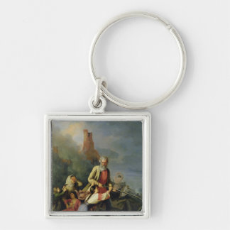 The Russians in 1812, 1855 Silver-Colored Square Keychain