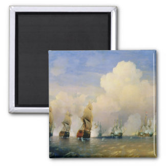The Russo-Swedish Sea War near Kronstadt in 1790 2 Inch Square Magnet