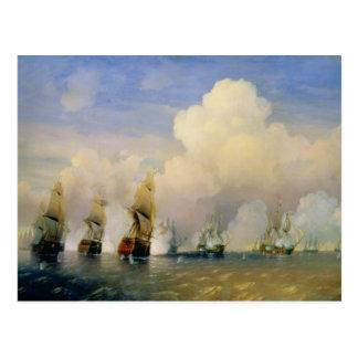 The Russo-Swedish Sea War near Kronstadt in 1790 Postcard
