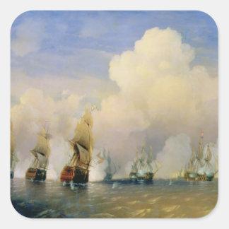 The Russo-Swedish Sea War near Kronstadt in 1790 Square Sticker