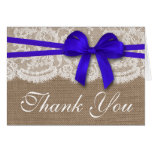 The Rustic Blue Bow Wedding Collection Cards