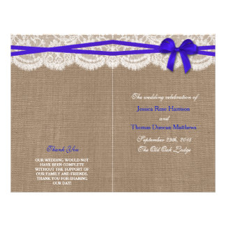 The Rustic Blue Bow Wedding Collection Programs