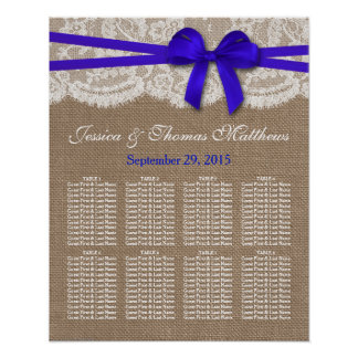 The Rustic Blue Bow Wedding Collection Seating Print