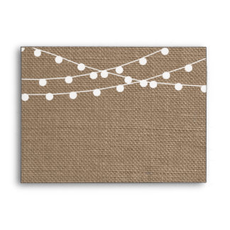 The Rustic Burlap String Lights Wedding Collection Envelope