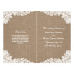 "The Rustic Burlap & Vintage White Lace Collection 8.5"" X 11"" Flyer"