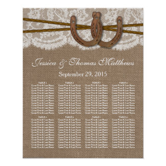 The Rustic Horseshe Wedding Collection Seating Print