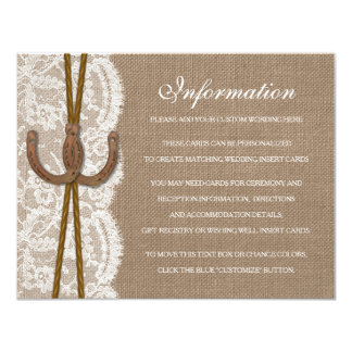 The Rustic Horseshoe Wedding Collection Detail Card