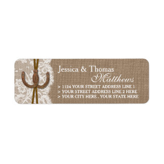 The Rustic Horseshoe Wedding Collection Labels