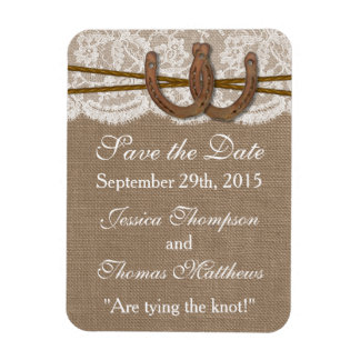 The Rustic Horseshoe Wedding Collection Magnet