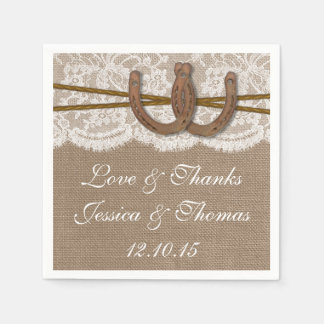 The Rustic Horseshoe Wedding Collection Paper Napkin