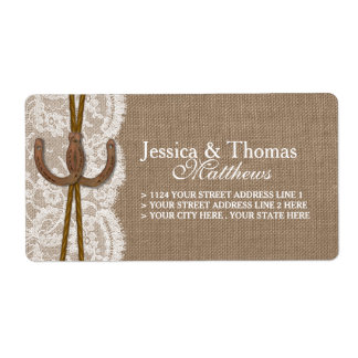 The Rustic Horseshoe Wedding Collection Shipping Label