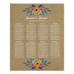 The Rustic Kraft Floral Wreath Wedding Collection Poster