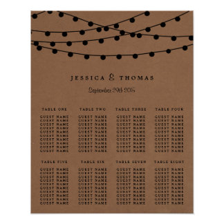 The Rustic Kraft String Lights Wedding Collection Poster