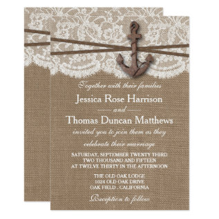 The Rustic Nautical Anchor Wedding Collection Card at Zazzle