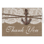 The Rustic Nautical Anchor Wedding Collection Card