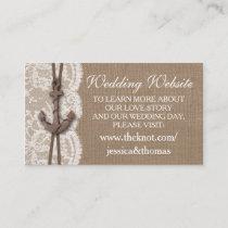 The Rustic Nautical Anchor Wedding Collection Enclosure Card