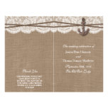 """The Rustic Nautical Anchor Wedding Collection 8.5"""" X 11"""" Flyer"""