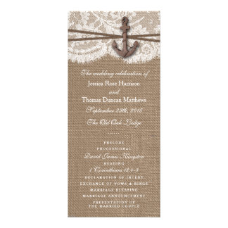 The Rustic Nautical Anchor Wedding Collection Rack Card