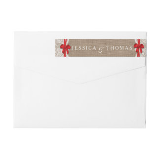 The Rustic Red Bow Wedding Collection Labels