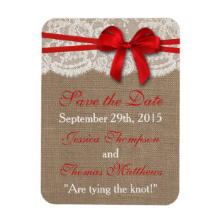 The Rustic Red Bow Wedding Collection Magnet