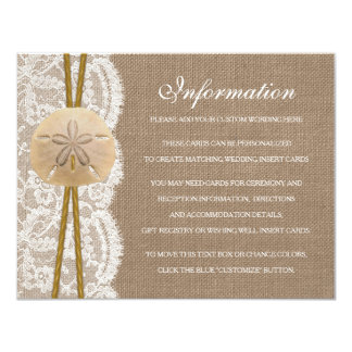 The Rustic Sand Dollar Beach Wedding Collection 4.25x5.5 Paper Invitation Card