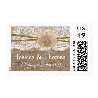The Rustic Sand Dollar Beach Wedding Collection Postage