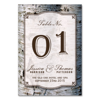 The Rustic Silver Birch Tree Wedding Collection 01 Card
