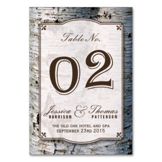 The Rustic Silver Birch Tree Wedding Collection 02 Card