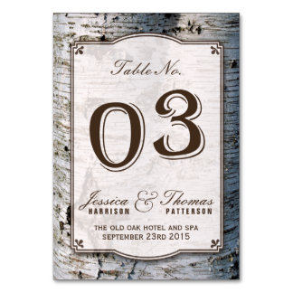 The Rustic Silver Birch Tree Wedding Collection 03 Card