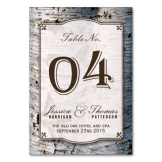The Rustic Silver Birch Tree Wedding Collection 04 Card