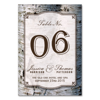 The Rustic Silver Birch Tree Wedding Collection 06 Card