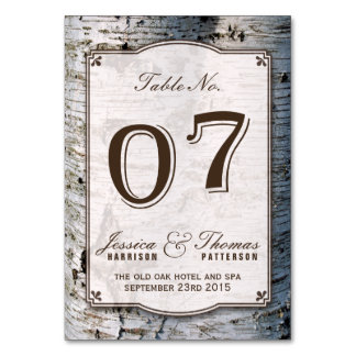 The Rustic Silver Birch Tree Wedding Collection 07 Card