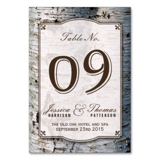 The Rustic Silver Birch Tree Wedding Collection 09 Card