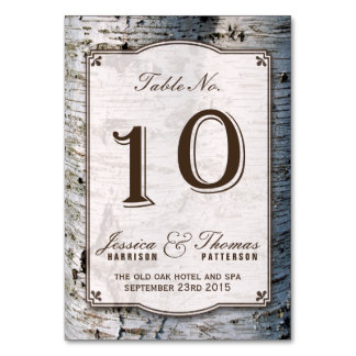 The Rustic Silver Birch Tree Wedding Collection 10 Card