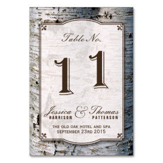 The Rustic Silver Birch Tree Wedding Collection 11 Card