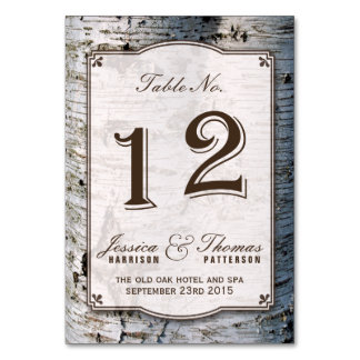 The Rustic Silver Birch Tree Wedding Collection 12 Card