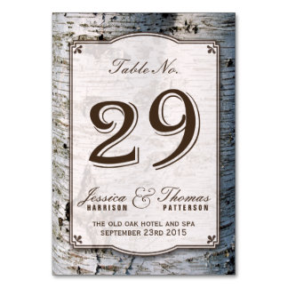 The Rustic Silver Birch Tree Wedding Collection 29 Card