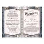 """The Rustic Silver Birch Tree Wedding Collection 8.5"""" X 11"""" Flyer"""
