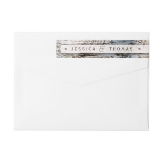 The Rustic Silver Birch Tree Wedding Collection Wrap Around Label