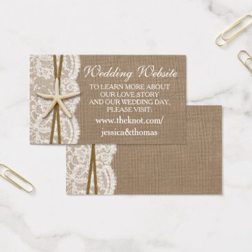 Invitation_Republic The Rustic Starfish Beach Wedding Collection Business Card