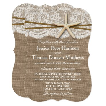 Invitation_Republic The Rustic Starfish Beach Wedding Collection Card