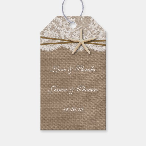 Rustic Wedding Gift Tags : The Rustic Starfish Beach Wedding Collection Gift Tags Zazzle