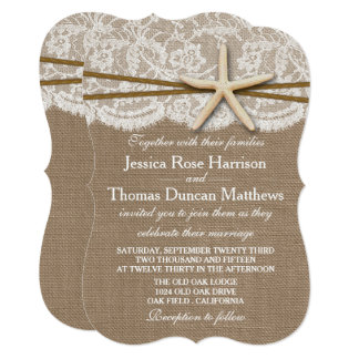 The Rustic Starfish Beach Wedding Collection Invitation