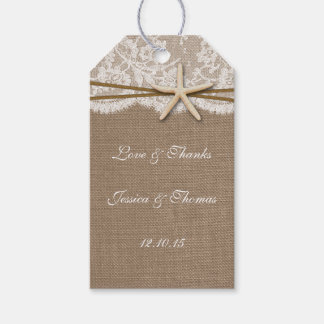 The Rustic Starfish Beach Wedding Collection Pack Of Gift Tags