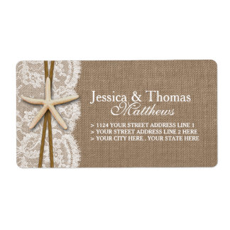The Rustic Starfish Beach Wedding Collection Shipping Label