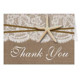 The Rustic Starfish Beach Wedding Collection Stationery Note Card